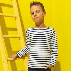 AQ074 - T-shirt marinière «coastal» enfant à manches longues