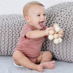 134B - Body bébé en triblend à manches courtes