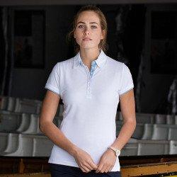 FR201 - Polo en piqué contrasté Femme